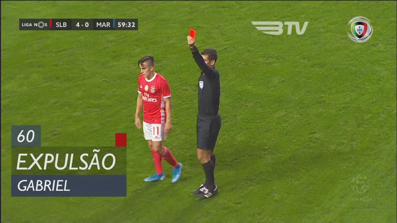 SL Benfica, Expulsão, Gabriel aos 60'