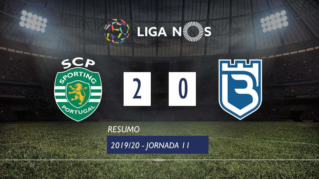 Liga NOS (11ªJ): Resumo Sporting CP 2-0 Belenenses