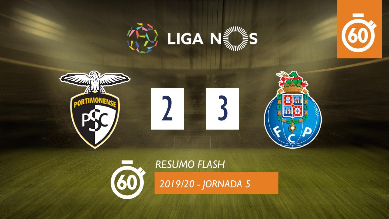 Liga NOS (5ªJ): Resumo Flash Portimonense 2-3 FC Porto