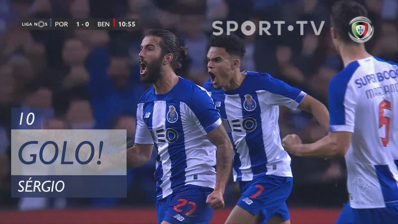 GOLO! FC Porto, Sérgio aos 10', FC Porto 1-0 SL Benfica