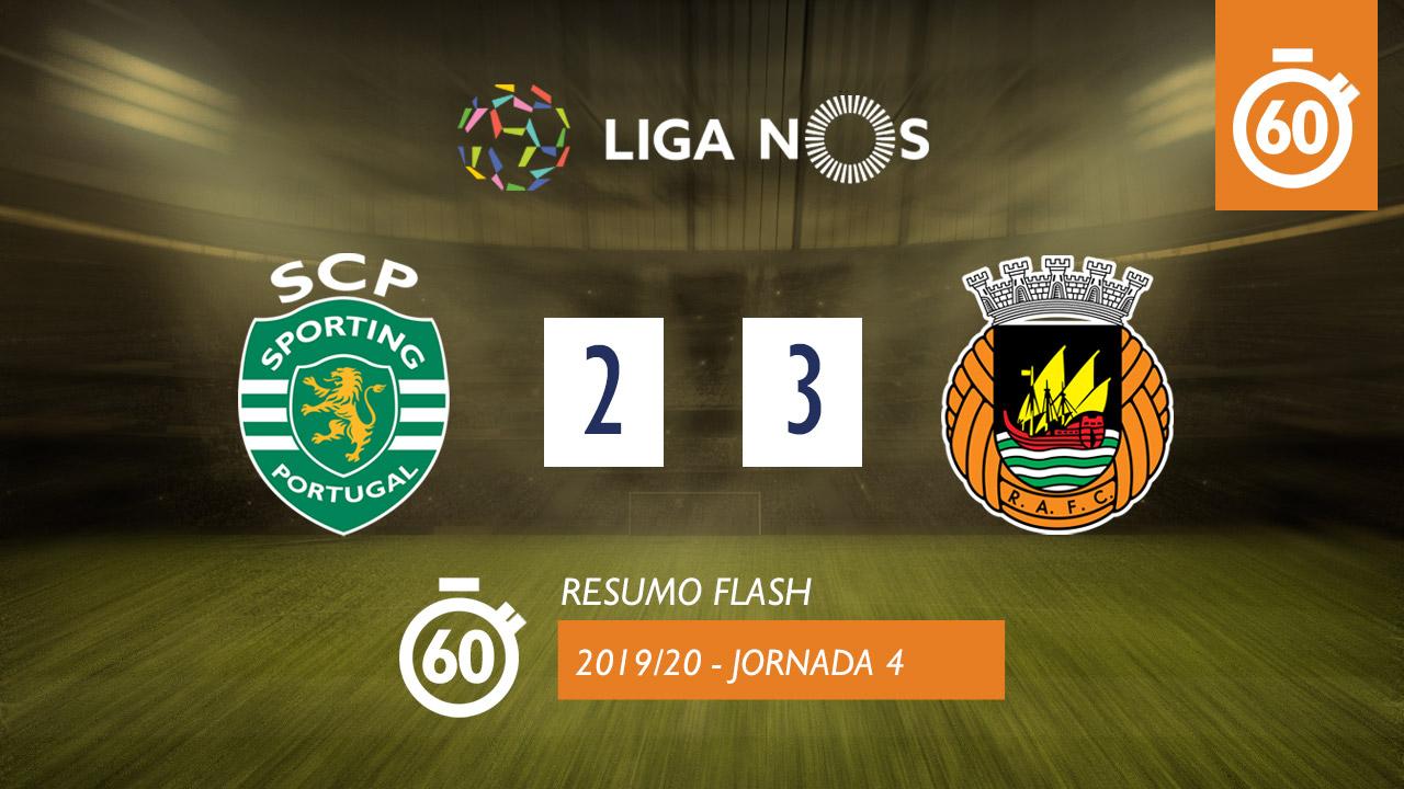 I Liga (4ªJ): Resumo Flash Sporting CP 2-3 Rio Ave FC