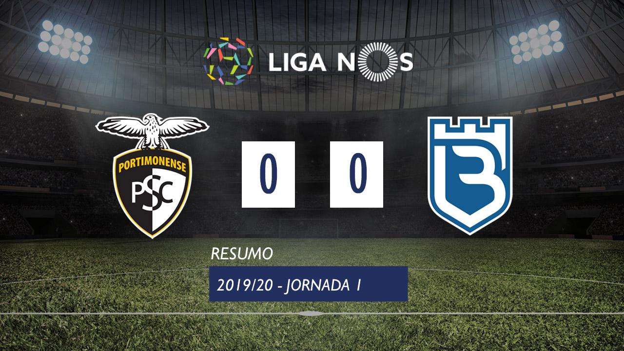 Liga NOS (1ªJ): Resumo Portimonense 0-0 Belenenses SAD