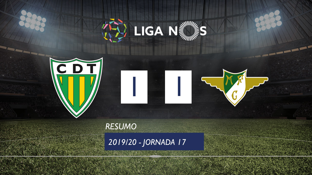 Liga NOS (17ªJ): Resumo CD Tondela 1-1 Moreirense FC