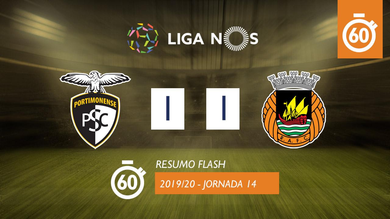 I Liga (14ªJ): Resumo Flash Portimonense 1-1 Rio Ave FC