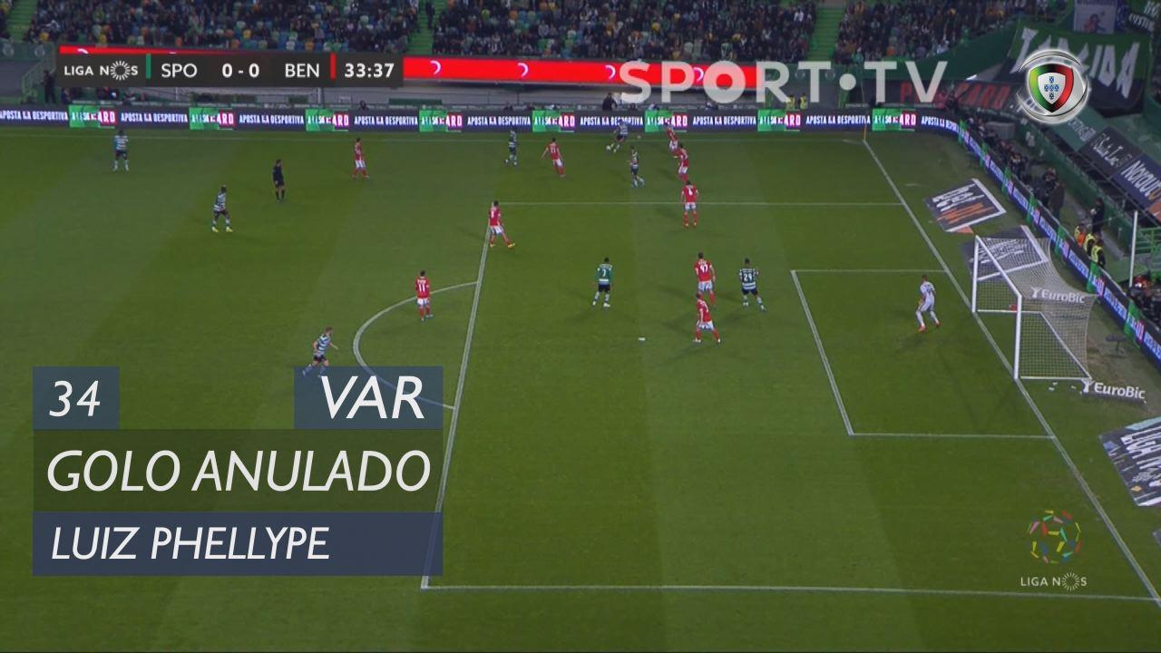 Sporting CP, Golo Anulado, Luiz Phellype aos 34'