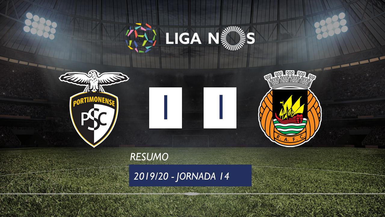 I Liga (14ªJ): Resumo Portimonense 1-1 Rio Ave FC