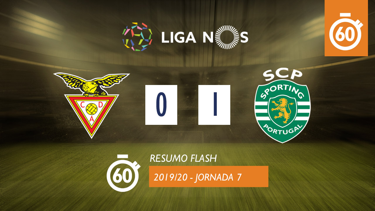 I Liga (7ªJ): Resumo Flash CD Aves 0-1 Sporting CP