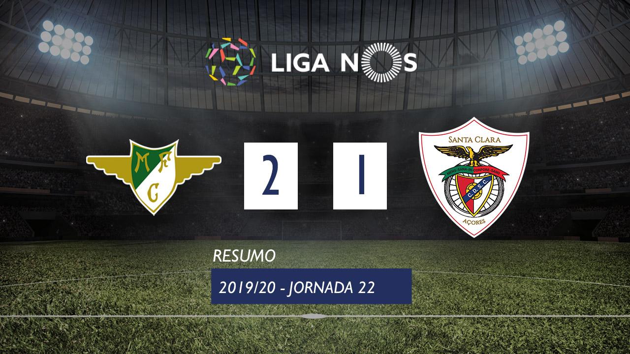 Liga NOS (22ªJ): Resumo Moreirense FC 2-1 Santa Clara