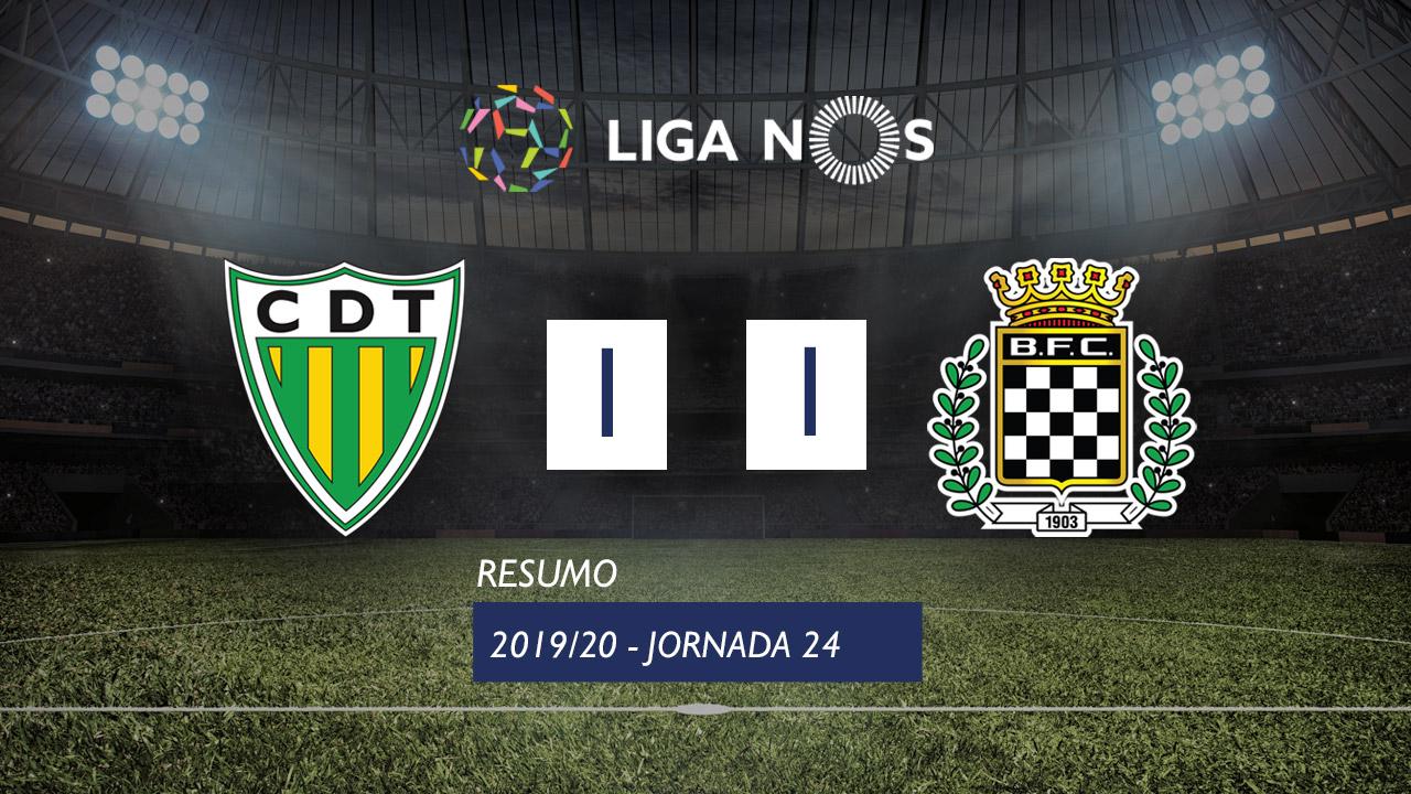 Liga NOS (24ªJ): Resumo CD Tondela 1-1 Boavista FC