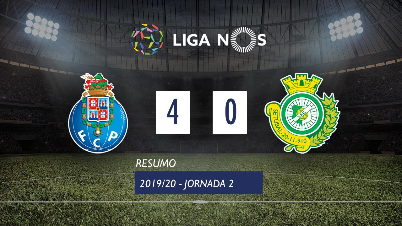I Liga (2ªJ): Resumo FC Porto 4-0 Vitória FC