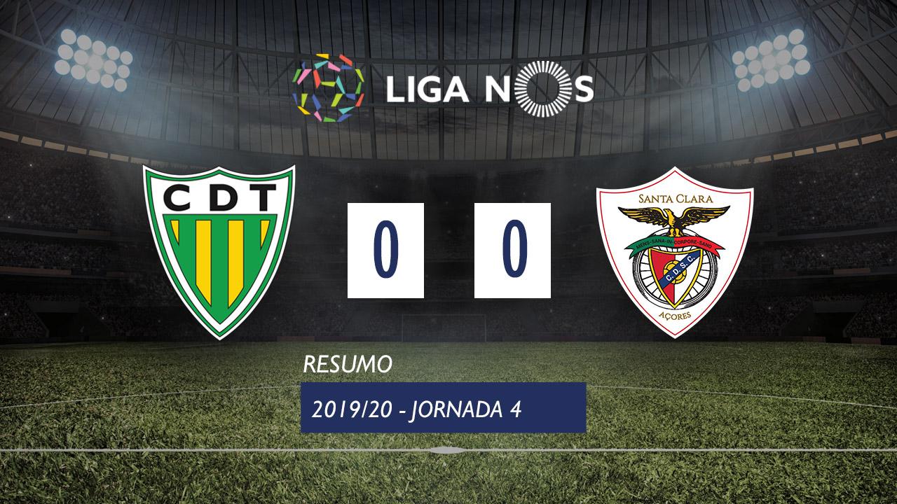 Liga NOS (4ªJ): Resumo CD Tondela 0-0 Santa Clara