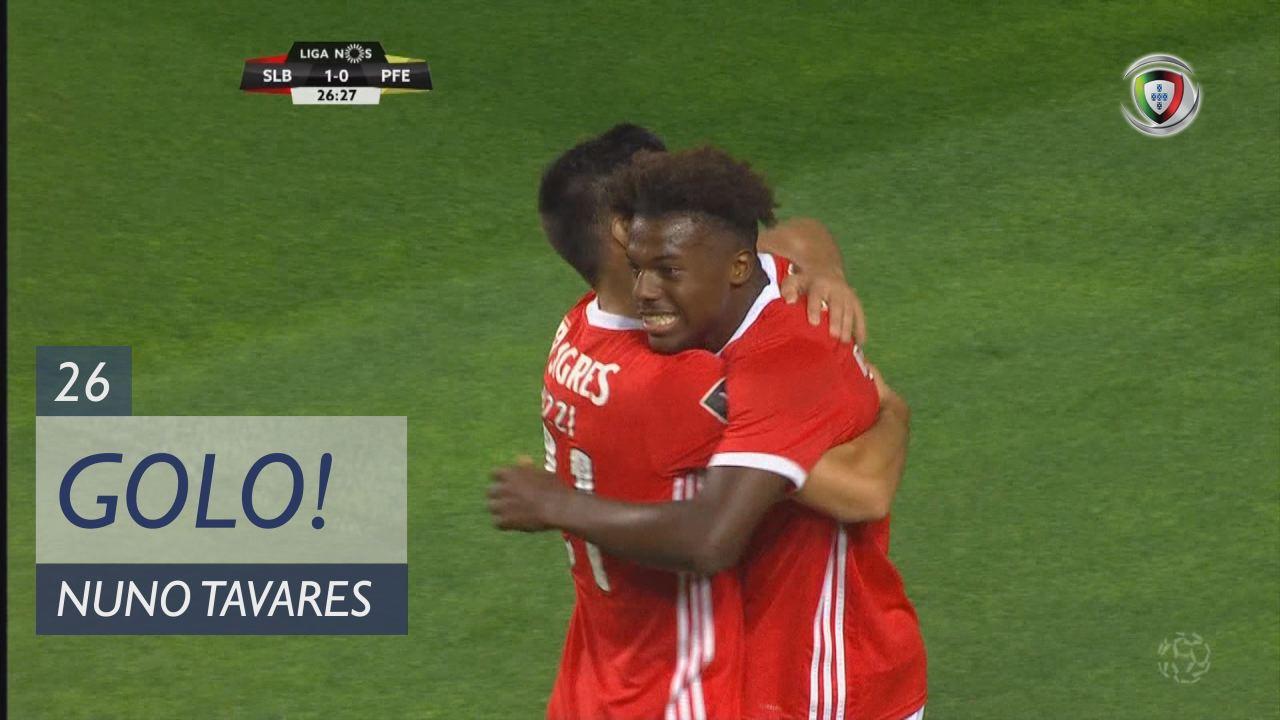 GOLO! SL Benfica, Nuno Tavares aos 26', SL Benfica 1-0 FC P.Ferreira