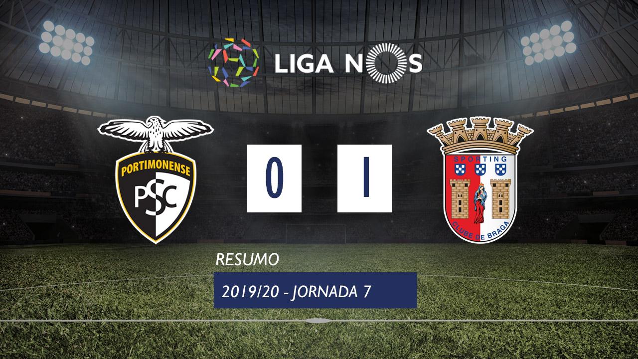 Liga NOS (7ªJ): Resumo Portimonense 0-1 SC Braga