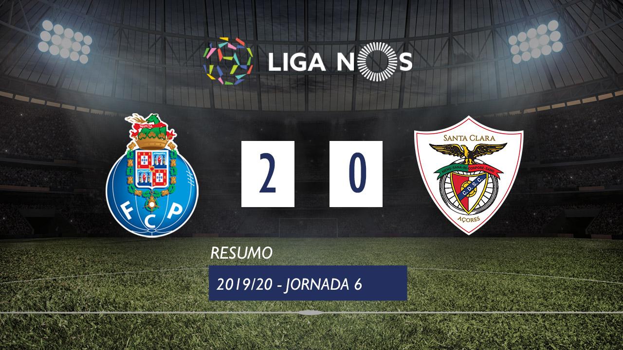 I Liga (6ªJ): Resumo FC Porto 2-0 Santa Clara