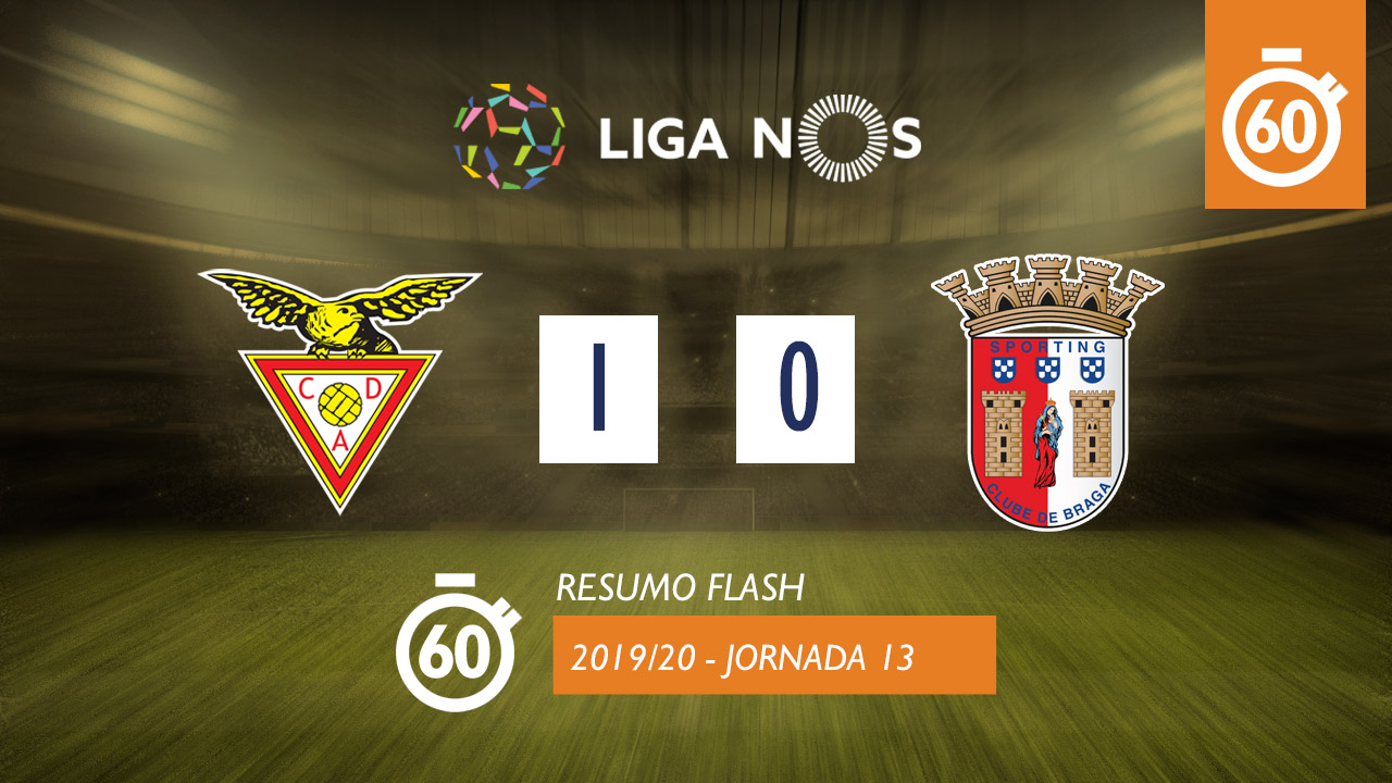 I Liga (13ªJ): Resumo Flash CD Aves 1-0 SC Braga