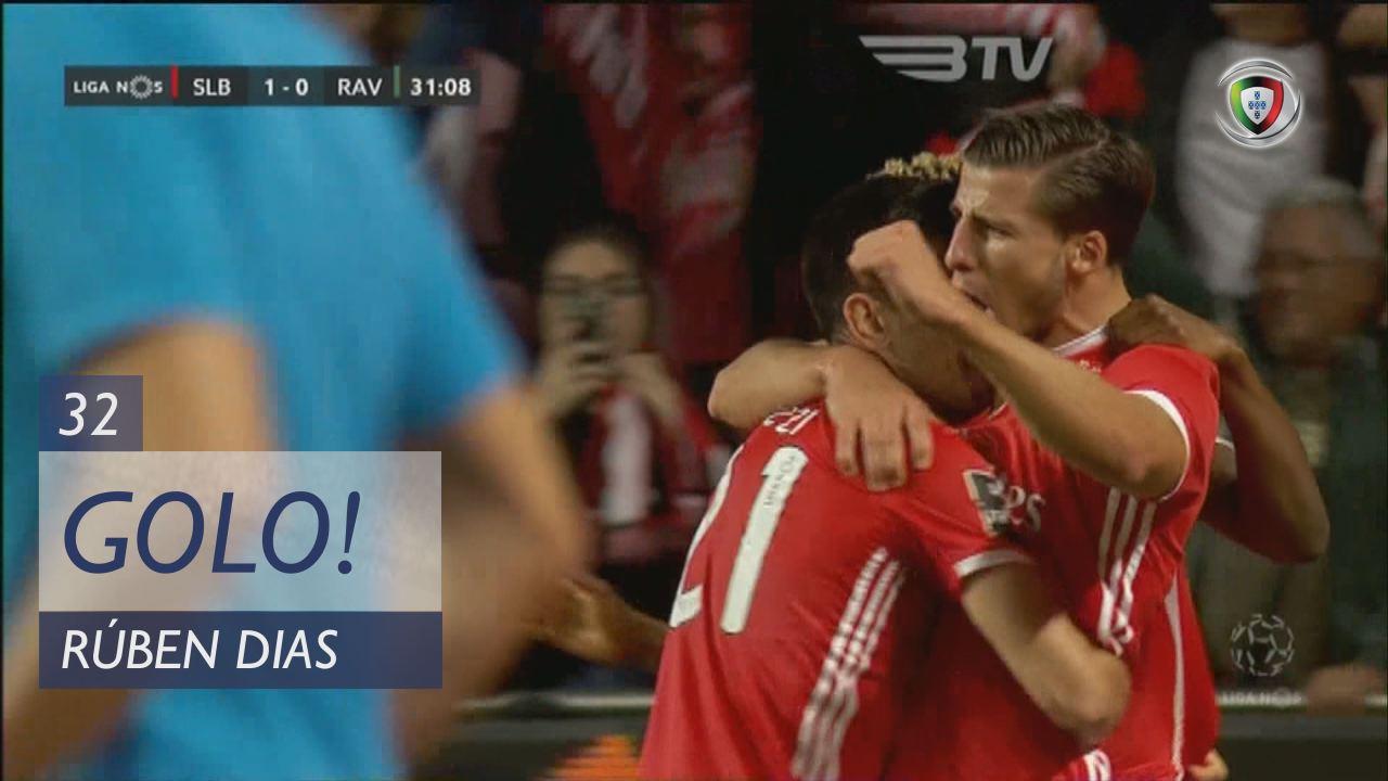 GOLO! SL Benfica, Rúben Dias aos 32', SL Benfica 1-0 Rio Ave FC