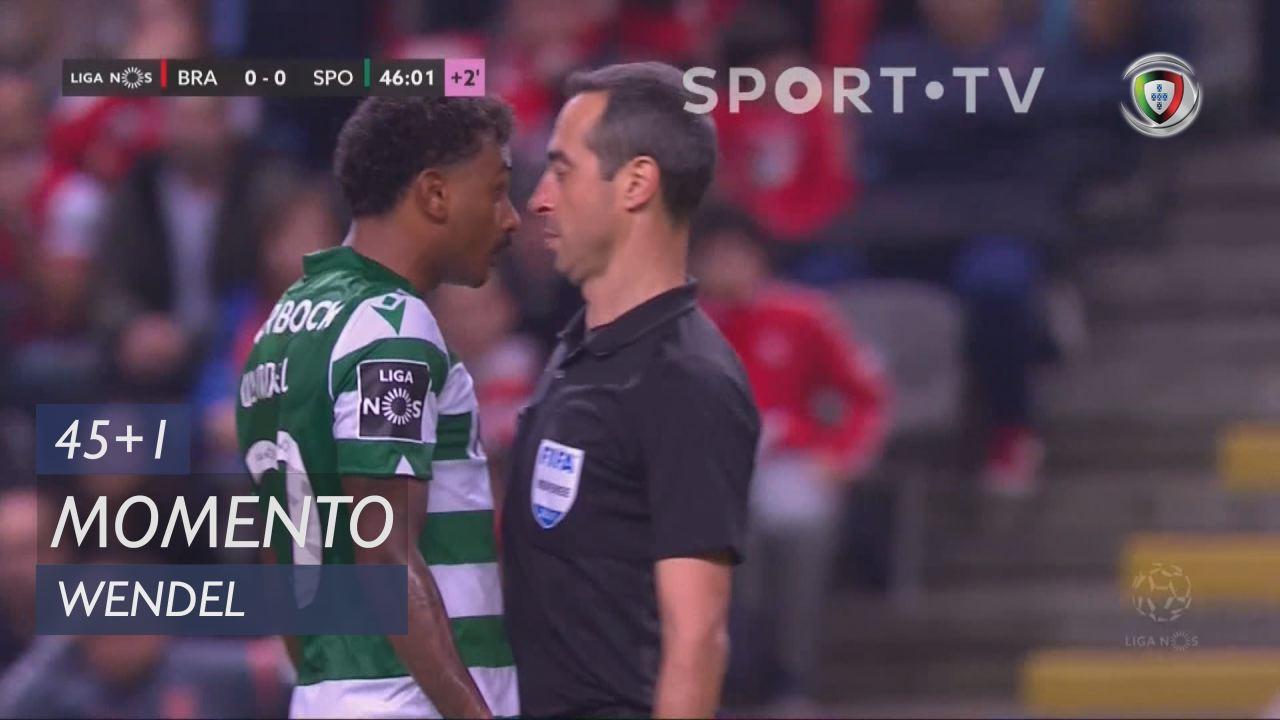 Sporting CP, Caso, Wendel aos 45'+1'