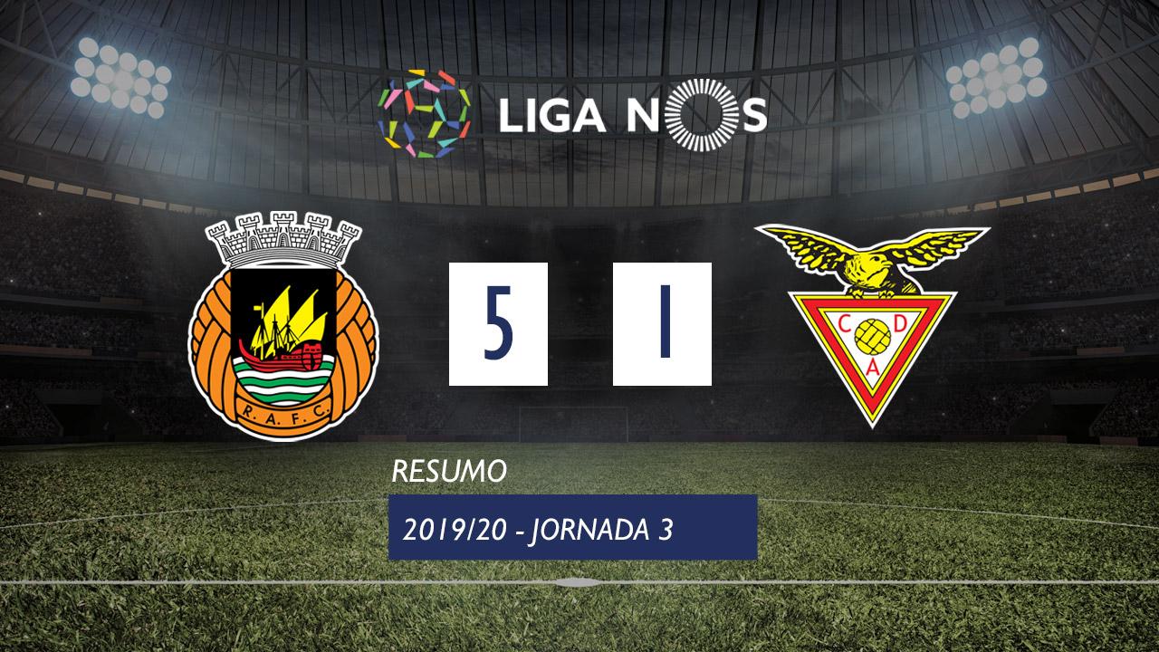 Liga NOS (3ªJ): Resumo Rio Ave FC 5-1 CD Aves