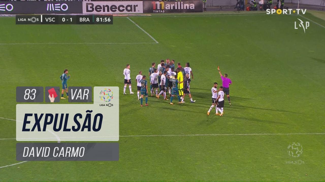 SC Braga, Expulsão, David Carmo aos 83'