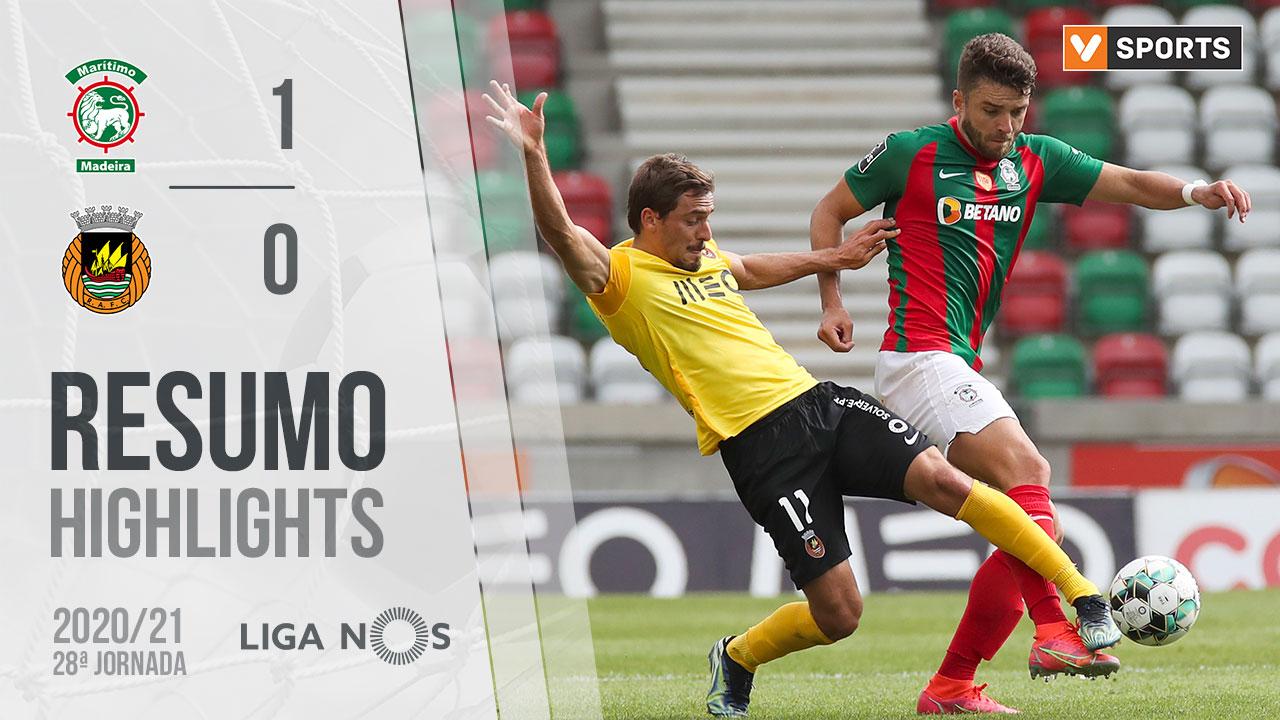 Liga NOS (28ªJ): Resumo Marítimo M. 1-0 Rio Ave FC