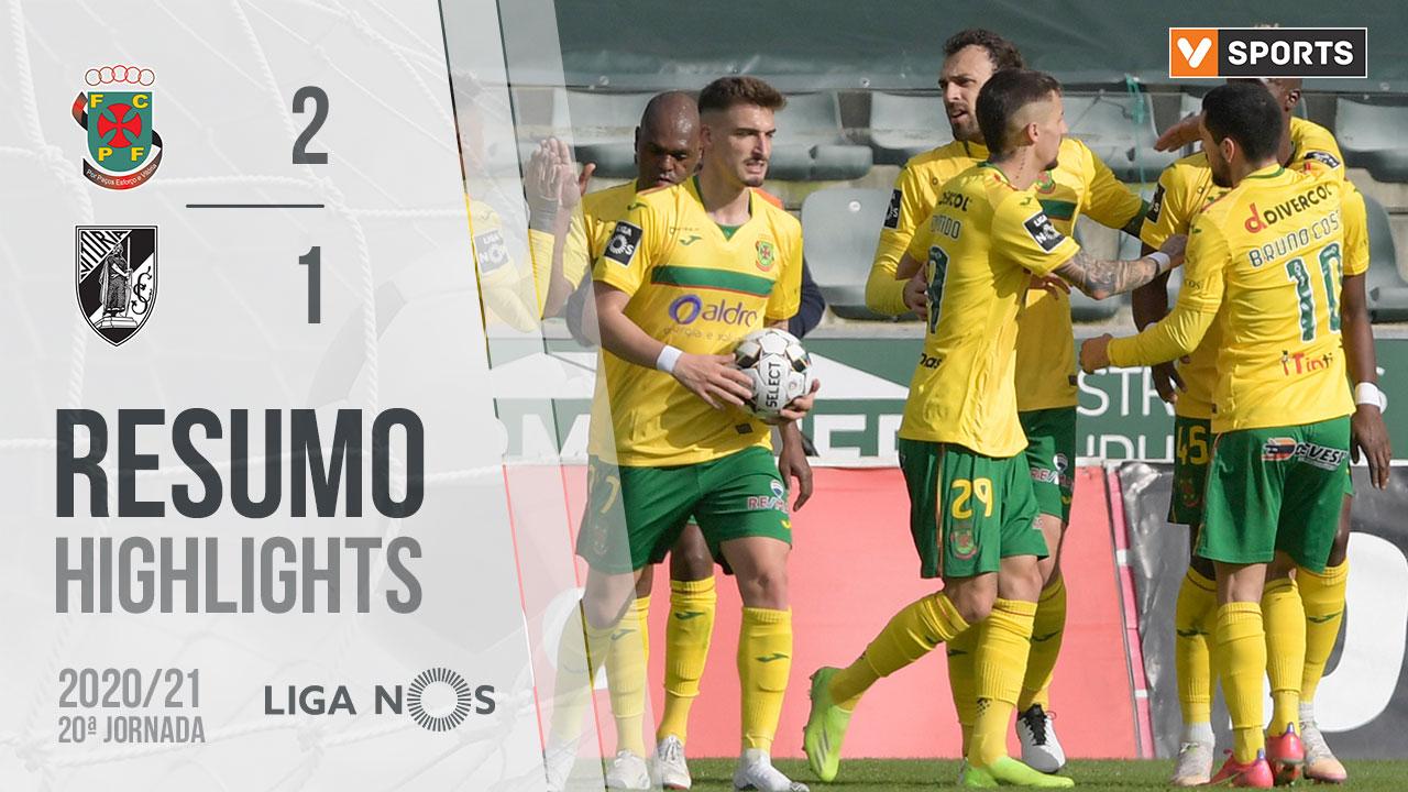 Liga NOS (20ªJ): Resumo FC P.Ferreira 2-1 Vitória SC