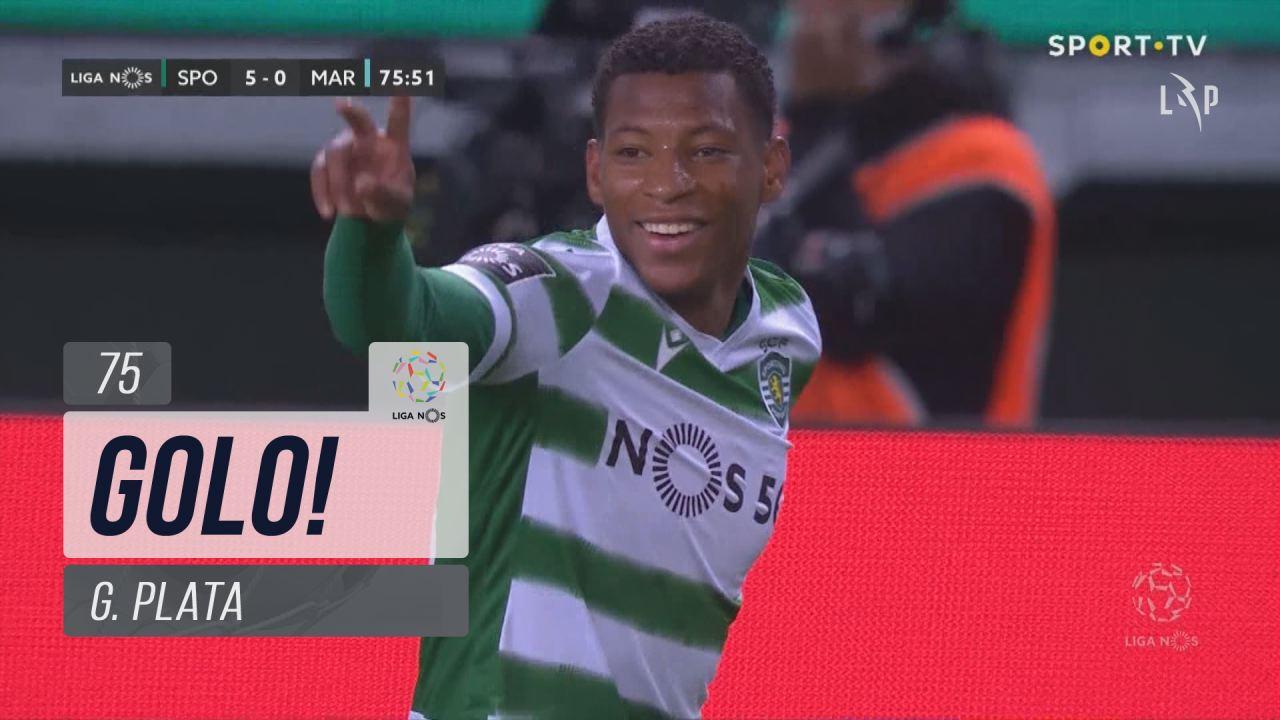 GOLO! Sporting CP, G. Plata aos 75', Sporting CP 5-0 Marítimo M.