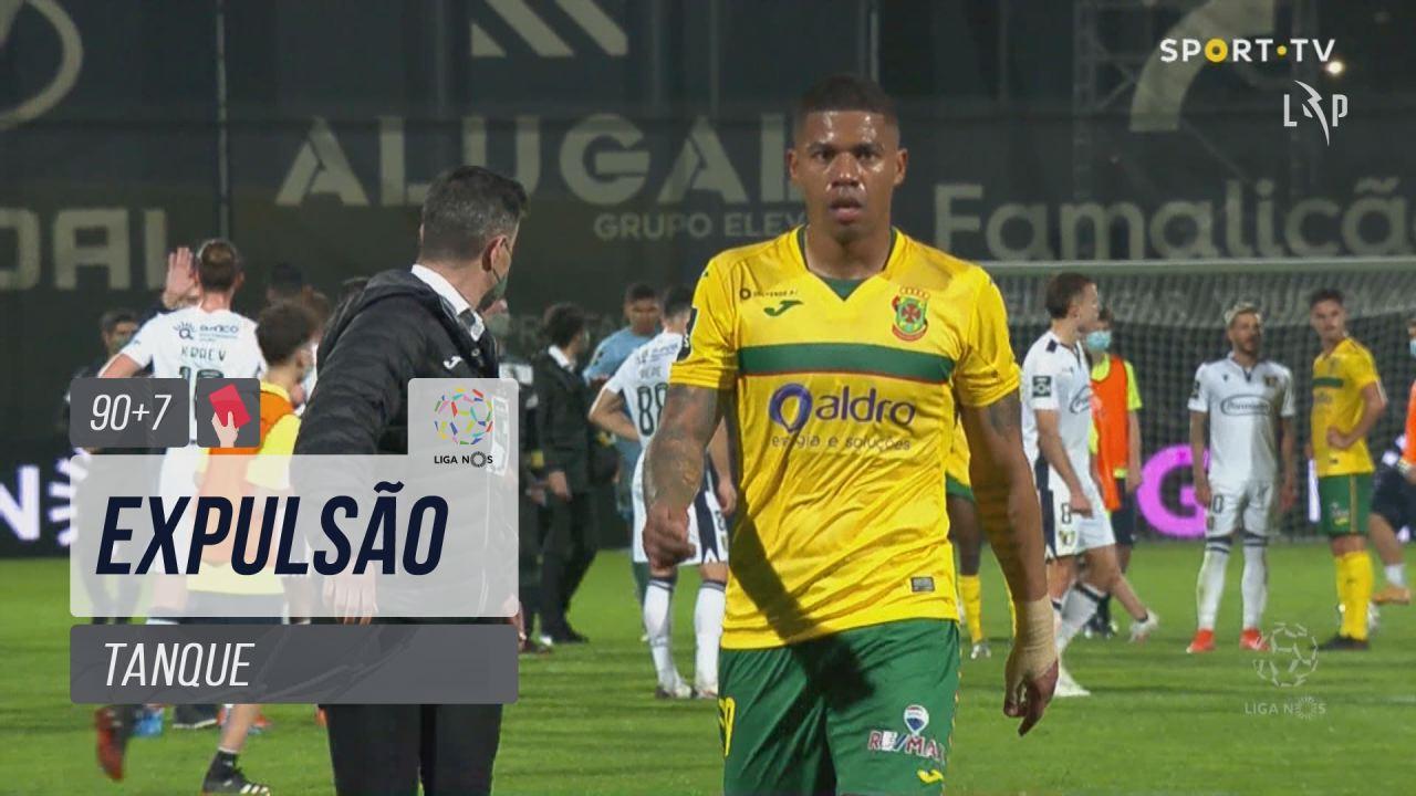 FC P.Ferreira, Expulsão, Tanque aos 90'+7'