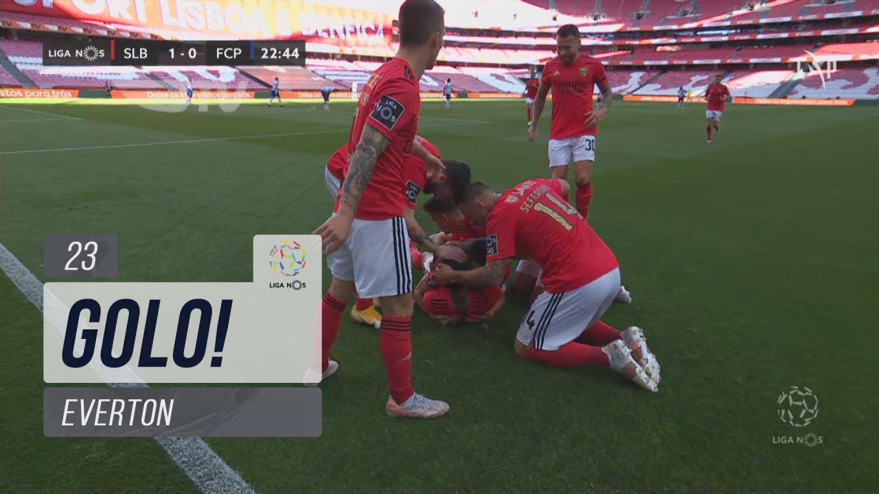 GOLO! SL Benfica, Everton aos 23', SL Benfica 1-0 ...