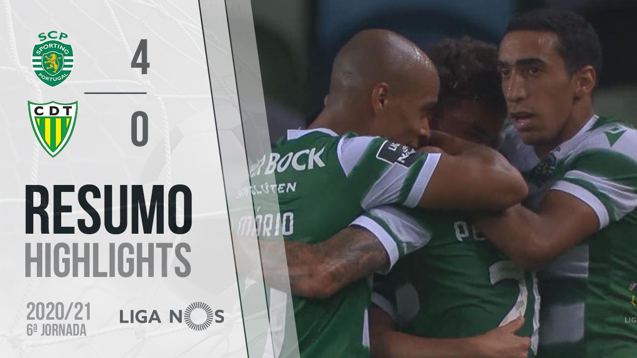 Liga NOS (6ªJ): Resumo Sporting CP 4-0 CD Tondela