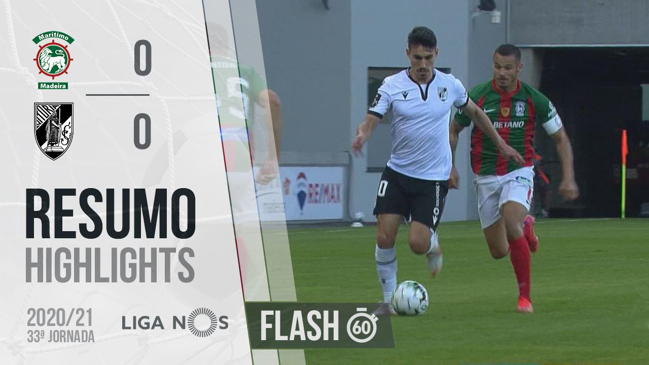 I Liga (33ªJ): Resumo Flash Marítimo M. 0-0 Vitória SC