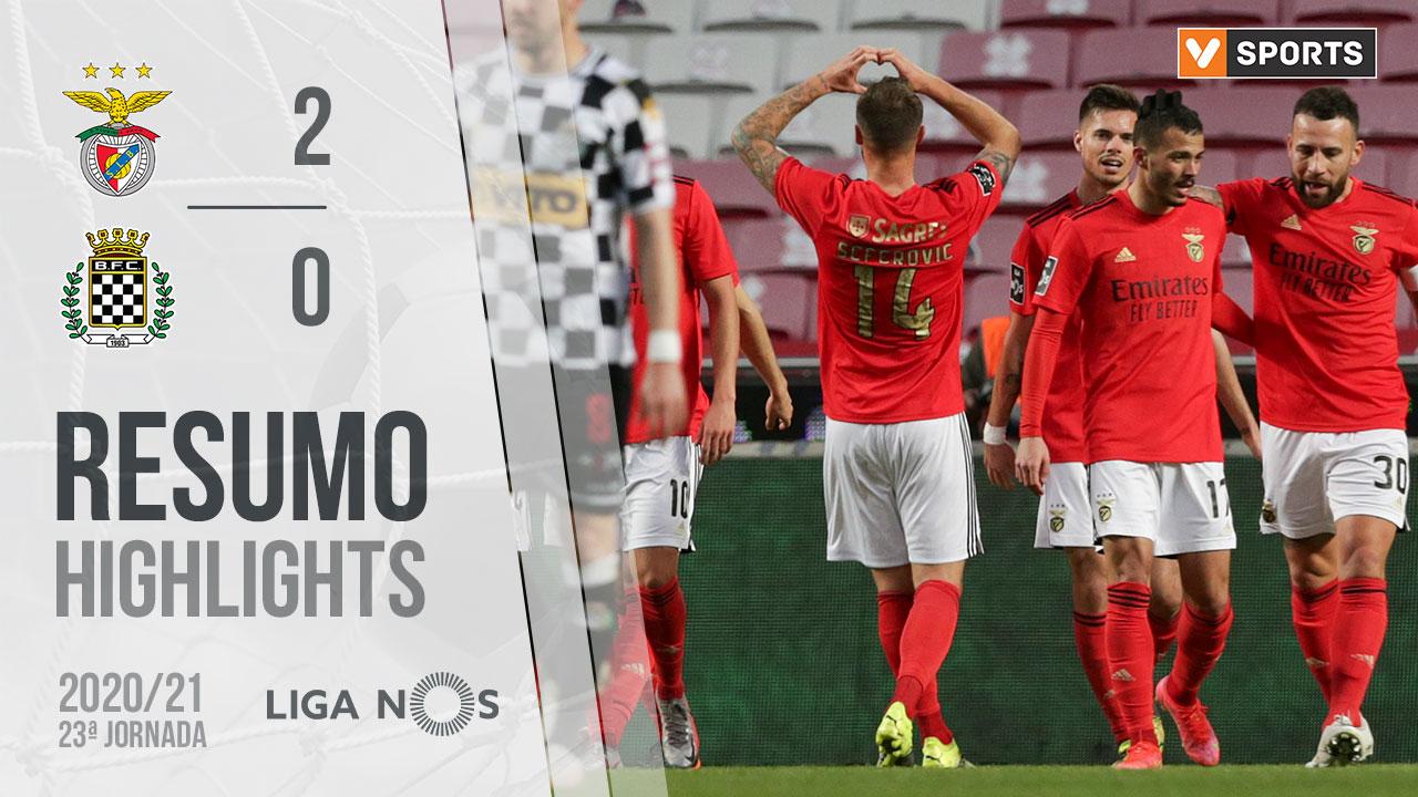 Liga NOS (23ªJ): Resumo SL Benfica 2-0 Boavista FC