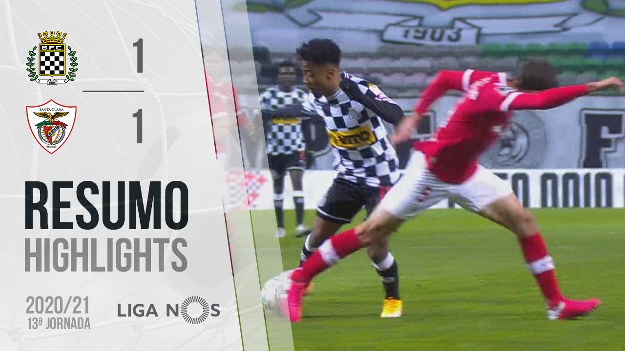 Liga NOS (13ªJ): Resumo Boavista FC 1-1 Santa Clara