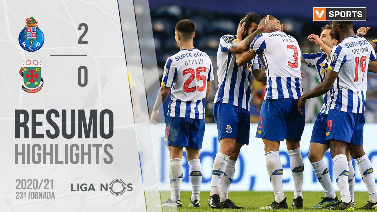 Liga NOS (23ªJ): Resumo FC Porto 2-0 FC P.Ferreira