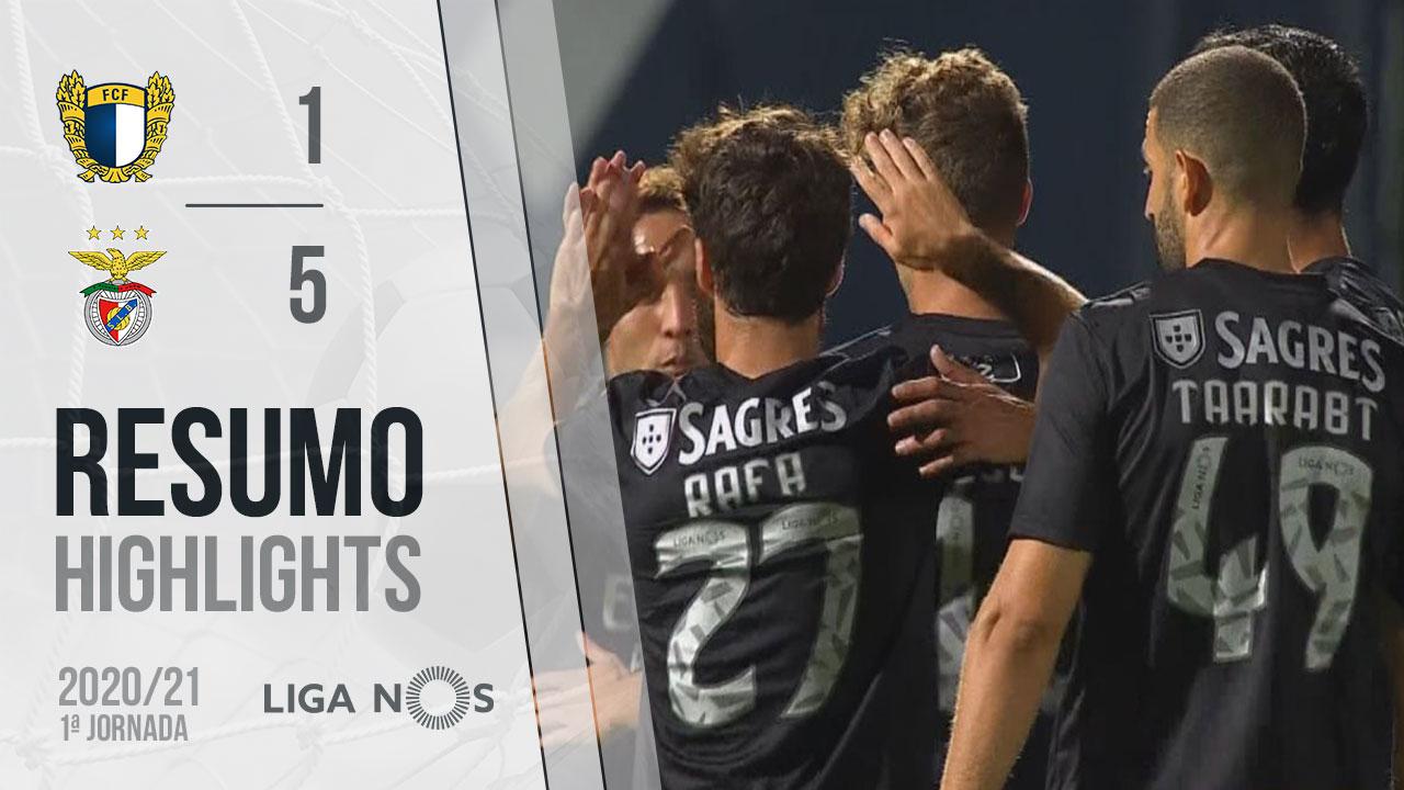 Liga NOS (1ªJ): Resumo FC Famalicão 1-5 SL Benfica