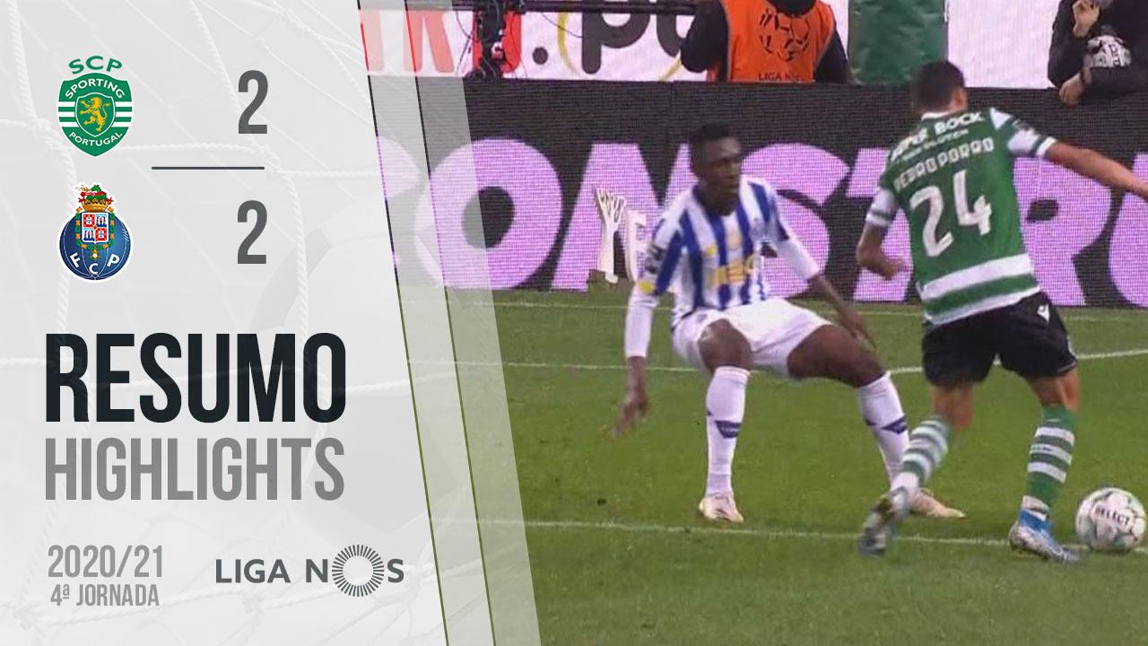 Liga NOS (4ªJ): Resumo Sporting CP 2-2 FC Porto