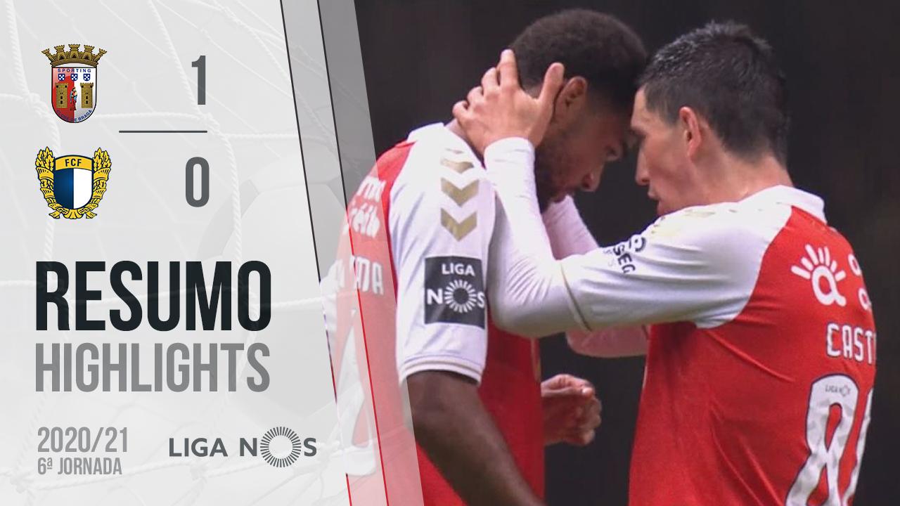 Liga NOS (6ªJ): Resumo SC Braga 1-0 FC Famalicão