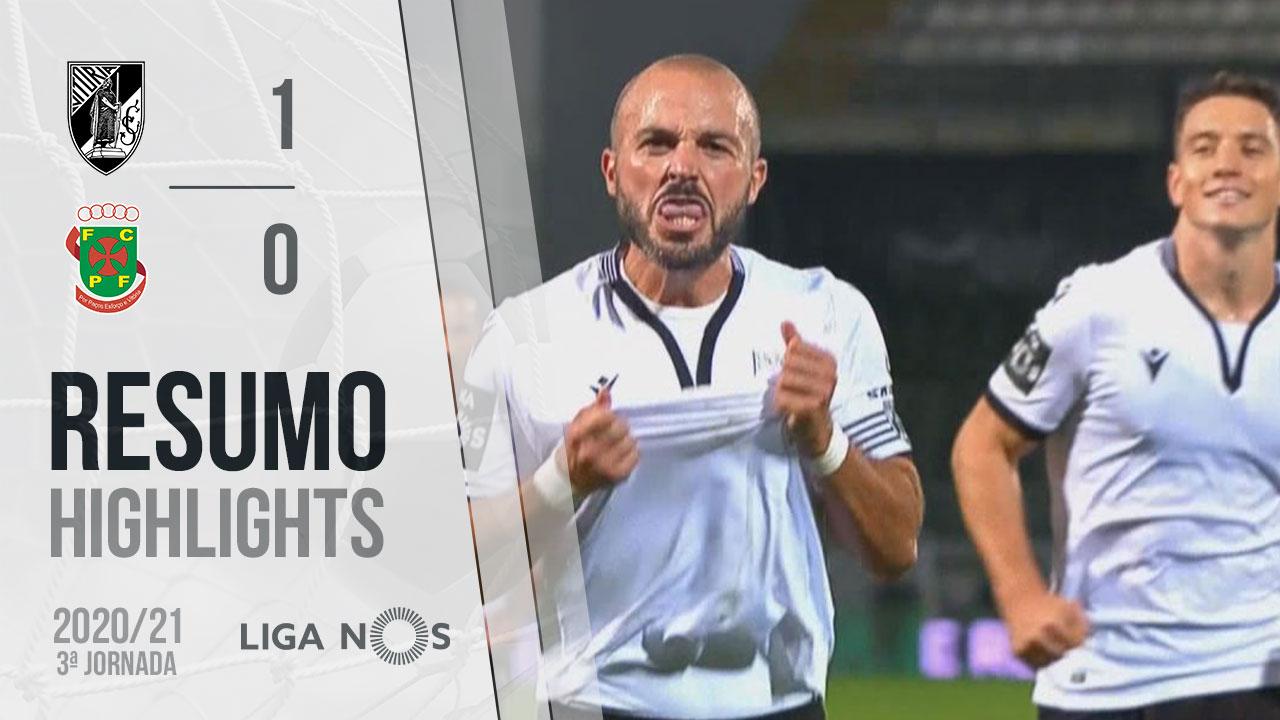Liga NOS (3ªJ): Resumo Vitória SC 1-0 FC P.Ferreira