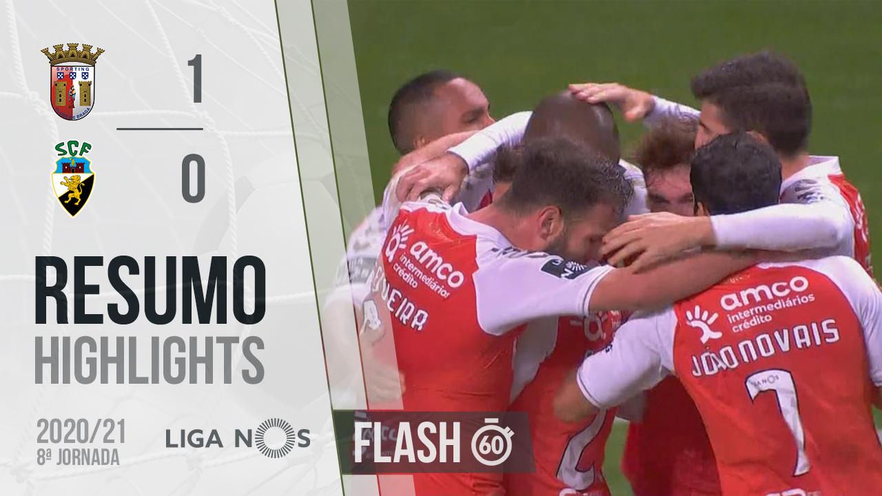 I Liga (8ªJ): Resumo Flash SC Braga 1-0 SC Farense