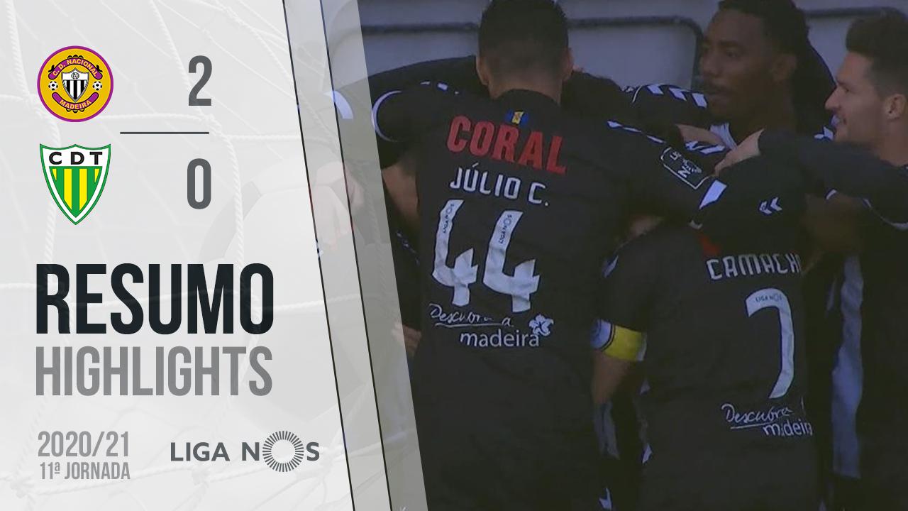 Liga NOS (11ªJ): Resumo CD Nacional 2-0 CD Tondela