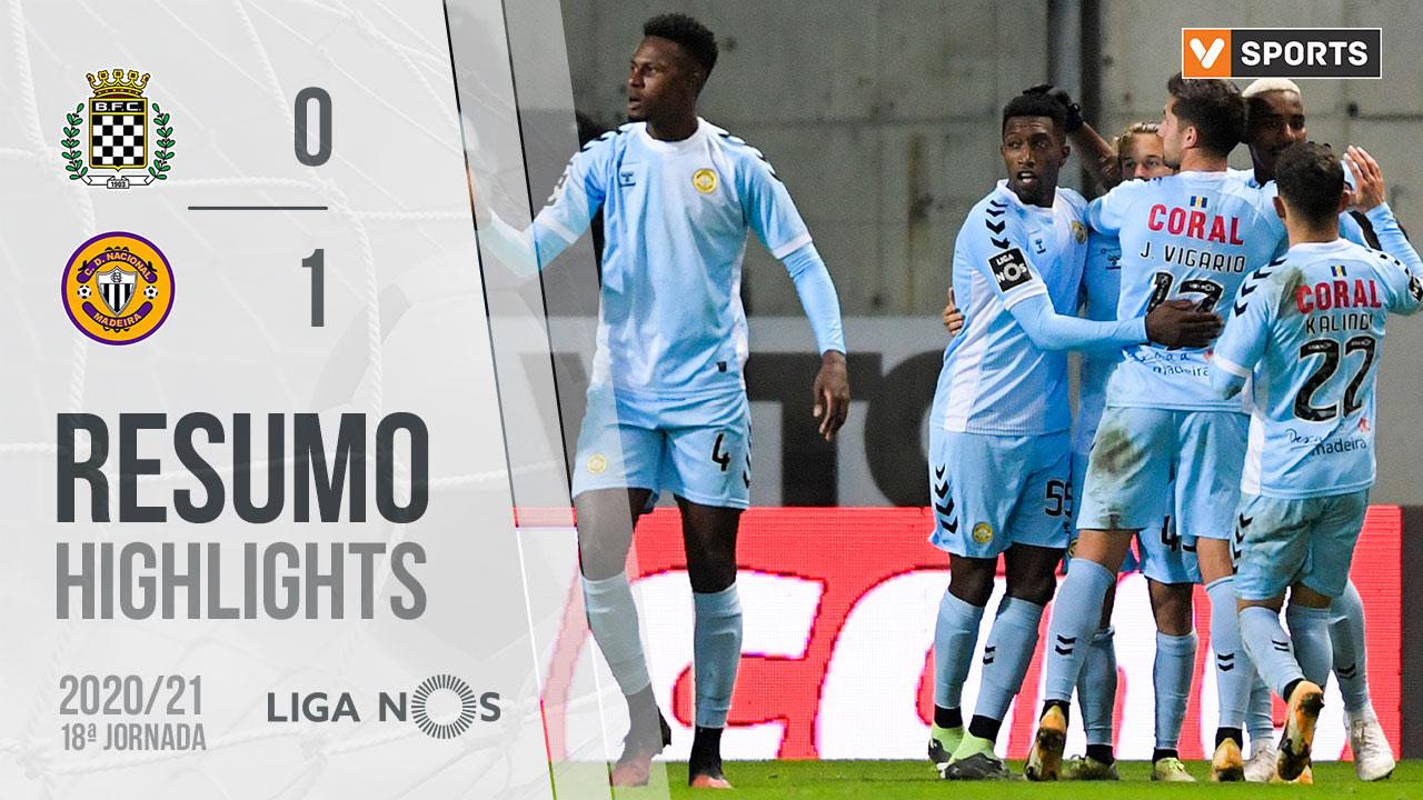 Liga NOS (18ªJ): Resumo Boavista FC 0-1 CD Nacional