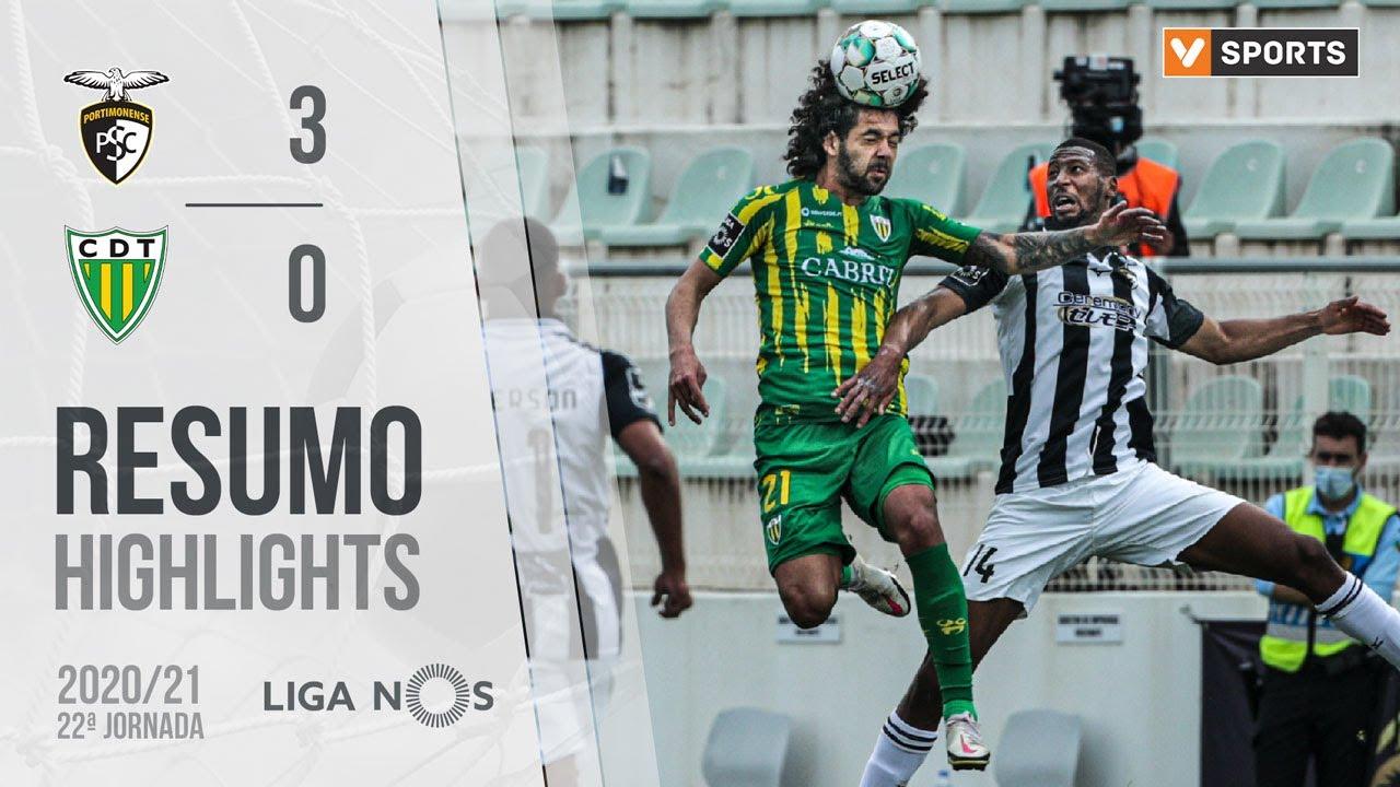 Liga NOS (22ªJ): Resumo Portimonense 3-0 CD Tondela