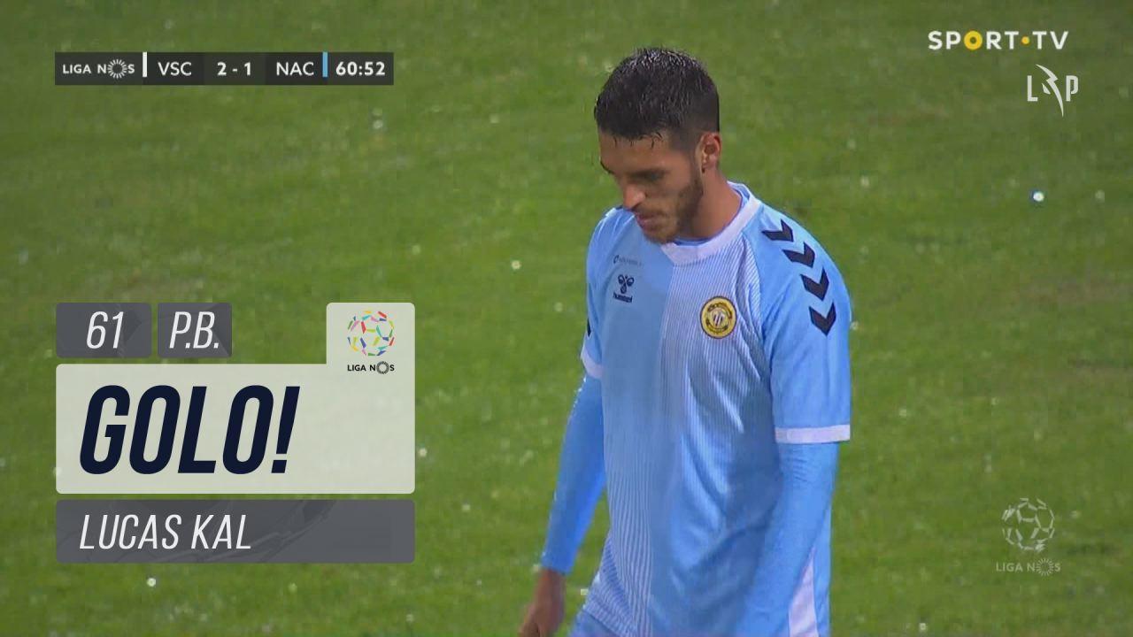 GOLO! Vitória SC, Lucas Kal (p.b.) aos 61', Vitória SC 3-1 CD Nacional