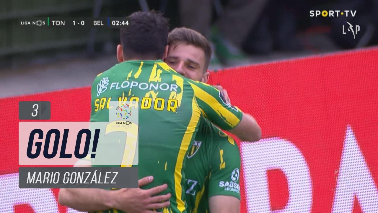GOLO! CD Tondela, Mario González aos 3', CD Tondela 1-0 Belenenses SAD