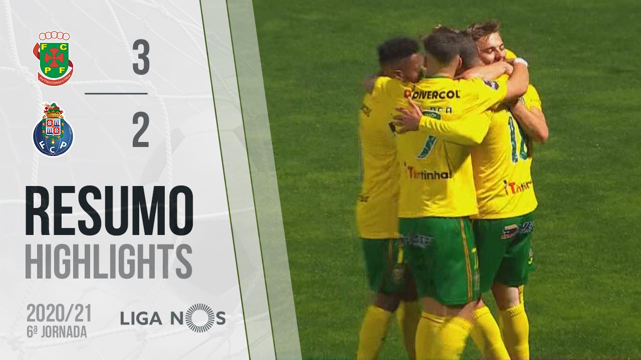 Liga NOS (6ªJ): Resumo FC P.Ferreira 3-2 FC Porto