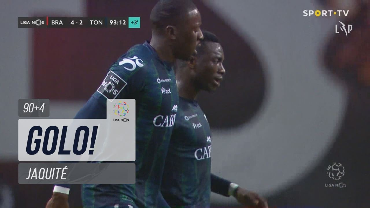 GOLO! CD Tondela, Jaquité aos 90'+4', SC Braga 4-2 CD Tondela