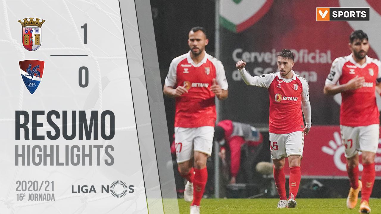 Liga NOS (15ªJ): Resumo SC Braga 1-0 Gil Vicente FC