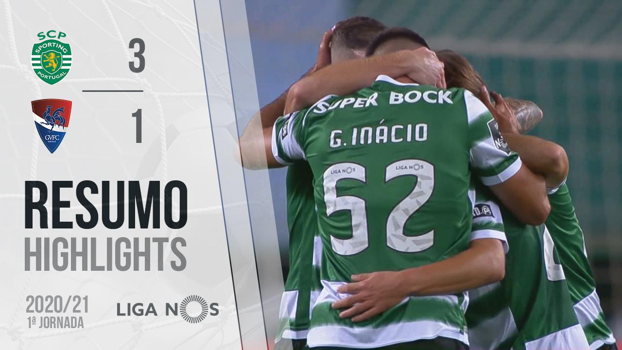 Liga NOS (1ªJ): Resumo Sporting CP 3-1 Gil Vicente FC