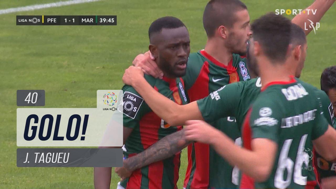 GOLO! Marítimo M., J.Tagueu aos 40', FC P.Ferreira 1-1 Marítimo M.