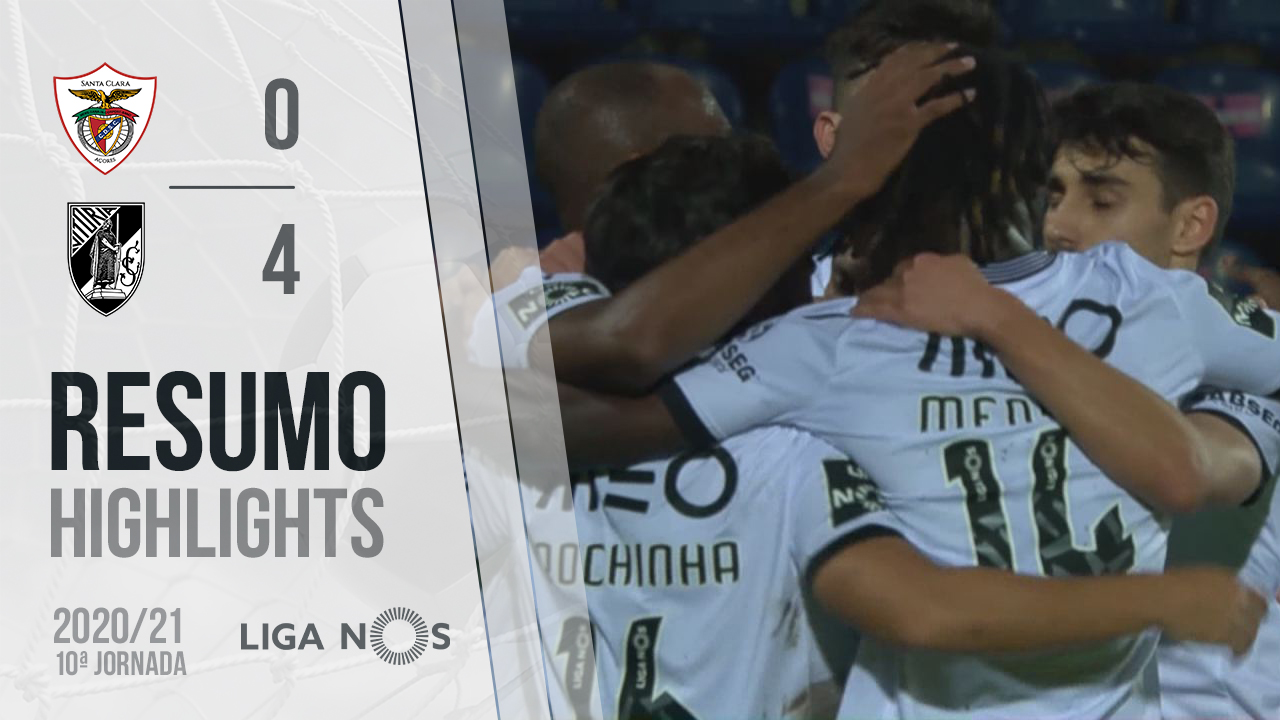 Liga NOS (10ªJ): Resumo Santa Clara 0-4 Vitória SC