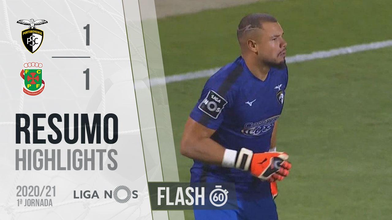 I Liga (1ªJ): Resumo Flash Portimonense 1-1 FC P.Ferreira